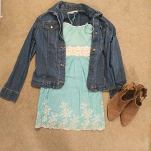 🔴5/$25 Blue Embroidered Dress - Speechless, 5